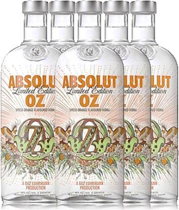 garrafas de vodka absolut oz, edição limitada, bebida alcoólica