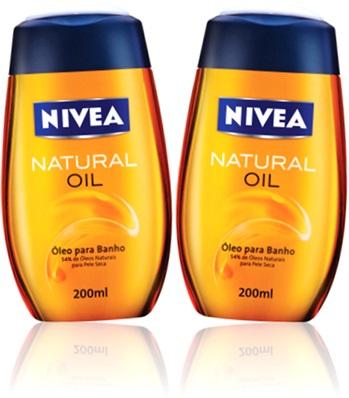 óleo para banho nivea natural oil
