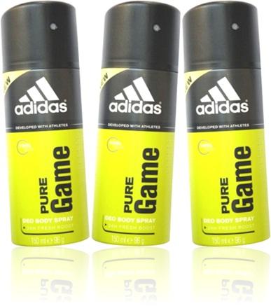 desodorante masculino adidas pure game, antitranspirante, suor