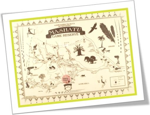 mashatu game reserve map, mapa de reserva de caça mashatu