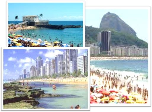 inglês, beach, praias porto da barra salvador, copacabana rio de janeiro, boa viagem recife