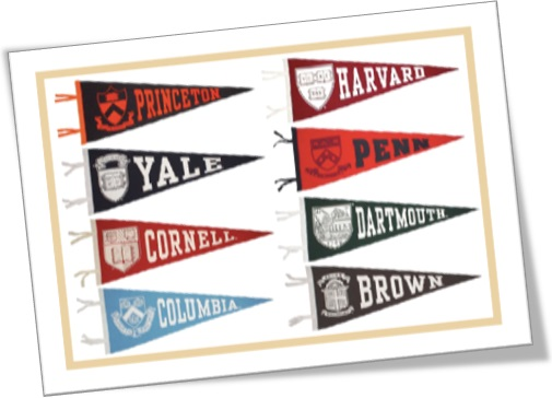 the ivy league, brown, columbia, cornell, dartmouth, harvard, princeton, yale, the university of pennsylvania