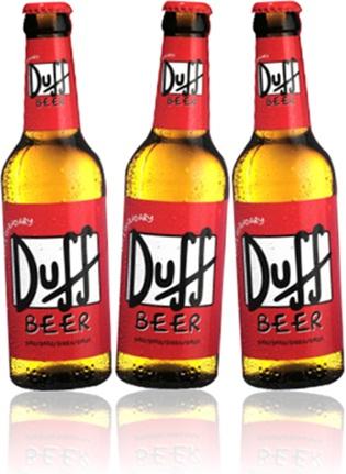 bottles of duff beer, garrafas de cerveja duff