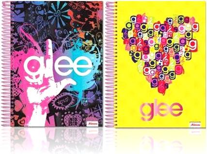 caderno universitário glee, foroni, colégio, escola, universidade, estudante
