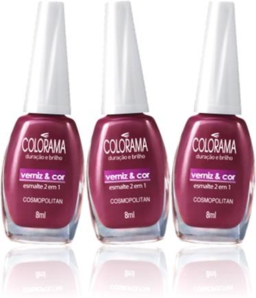 colorama esmalte de unhas verniz e cor cosmopolitan manicure