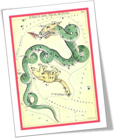 draco constellation, constelação do dragão, ursa menor, estrela, astronomia
