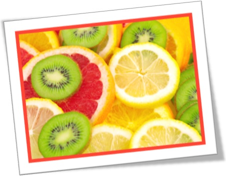 fruit slices, fatias de frutas, rodelas de grapefruit, limão, laranja, kiwi