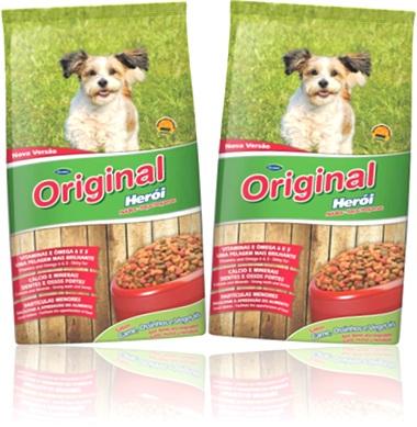 alimento para cachorro, ração para cães guabi original herói