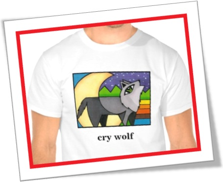 cry wolf tshirt, camiseta cry wolf