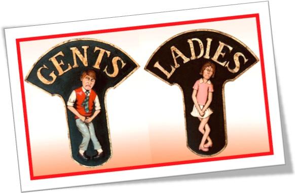 gents ladies banheiros masculino e feminino