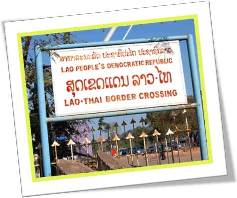 lao-thai border crossing, fronteira da tailândia com laos