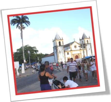 tourists flock to see the Olindas old churches, turistas nas igrejas de olinda