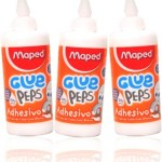 cola branca maped glue peps adhesivo, material escolar