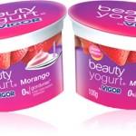 iogurte beauty yogurt vigor sabor morango, iogurte de beleza