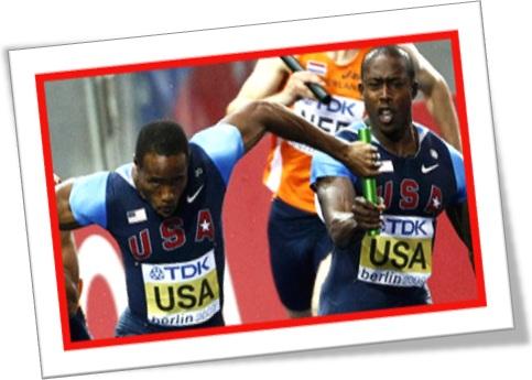 baton, runners, corrida de bastão, atletismo, atletas americanos, corredores
