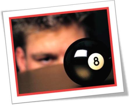 behind the eight ball, bico de sinuca, bola oito, bilhar
