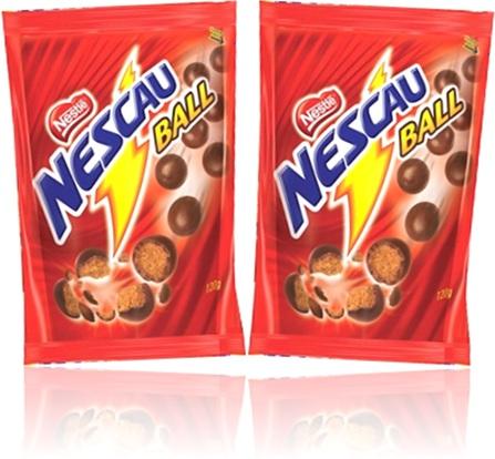 chocolate, nescau ball, cereal, nestlé, bola, lanche