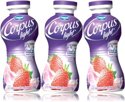 iogurte danone corpus light sabor morango intestino dieta polpa de frutas