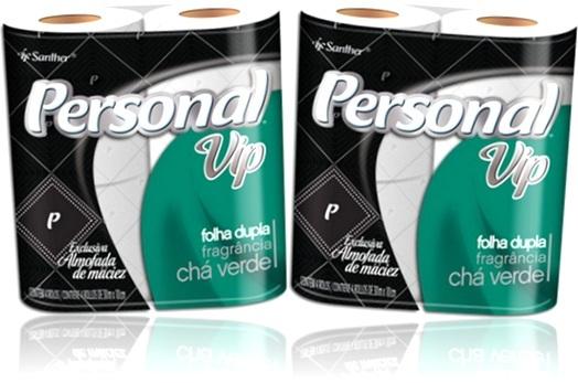 papel higiênico personal vip folha dupla fragrância chá verde