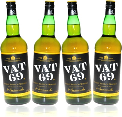 finest scotch whisky vat 69 garrafas de uísque bebida alcoólica