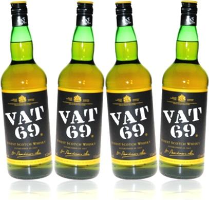 finest scotch whisky vat 69 garrafas de uísque bebida alcoólica