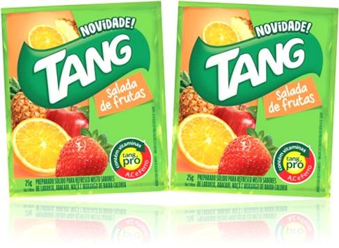 refresco em pó tang sabor salada de frutas morango laranja maçã e abacaxi