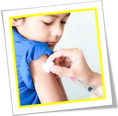 shot injeção vacinação criança braço algodão seringa