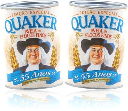 quaker latas comemorativas antigas de aveia em flocos finos quaker