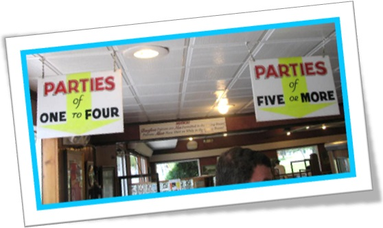 party parties of one to four parties of five or more