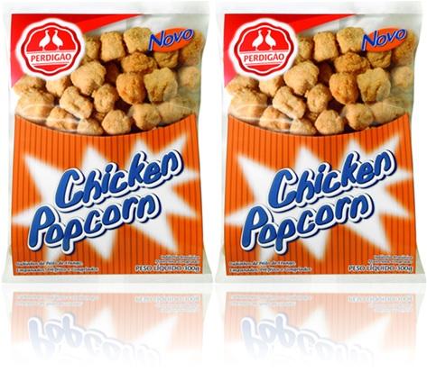 perdigão chicken popcorn cubos de peito de frango empanados pré-fritos congelados