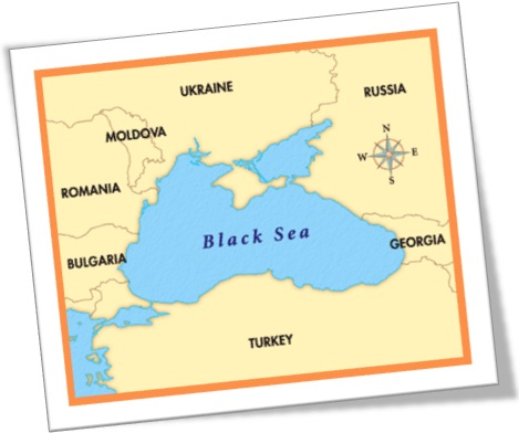 black sea, turkey, bulgaria, romania, moldovia, ukraine, russia, georgia, map