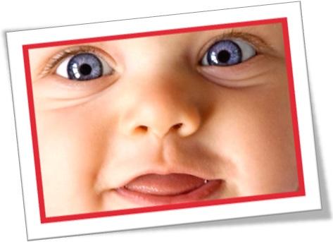 close-up shot, fotografia de bebê branco, olho azul