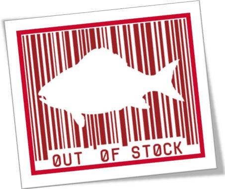 fish out of stock, estocagem, peixe, armazenagem, estoque em falta