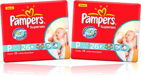 fraldas descartável pampers supersec urina assadura brotoeja bebê