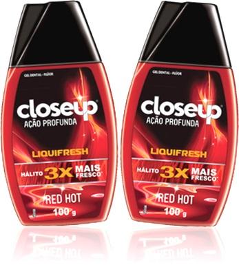 gel dental close up red hot liquifresh flúor hálito gengiva dentes