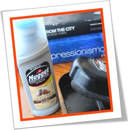 limpador nugget incolor para sapatos de camurça e nobuck