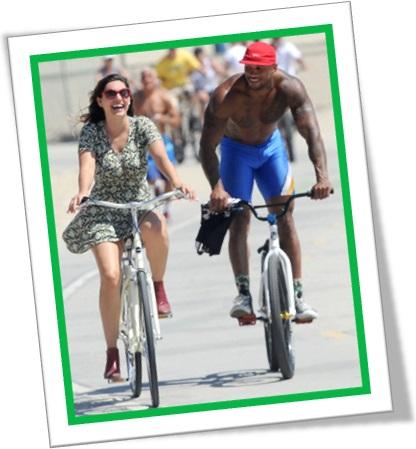 quick as a flash, homem, mulher, bicicleta, cantada, bicicleta, passeio