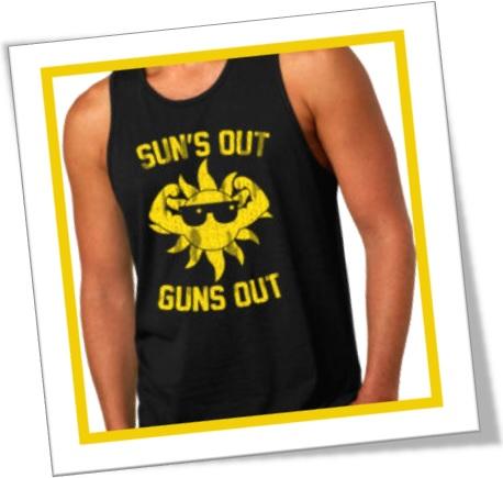 suns out guns out, homem forte, gun, muscle, tshirt, camiseta, homem sarado
