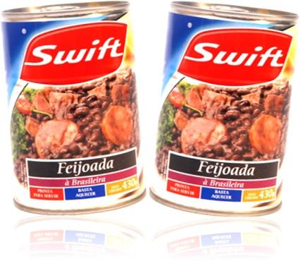 swift feijoada a brasileira carne linguiça paio feijão preto