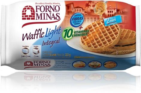 waffle light integral forno de minas lanche sobremesa alimentos