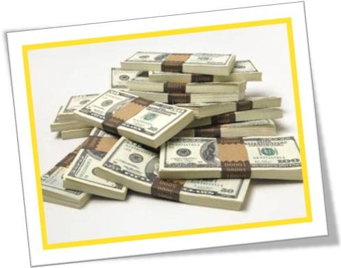 a tidy sum of money, malotes de dólares americanos
