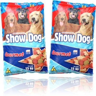alimento para cachorros adultos show dog gourmet ração canina