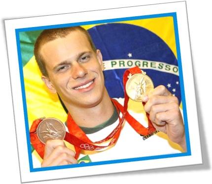 nadador natação cesar cielo medalhas olímpicas esporte show olimpíadas