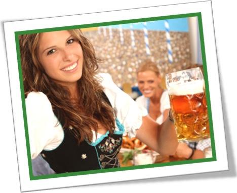 mulher alemã, caneca de cerveja, trinken, trink, oktoberfest, blumenau