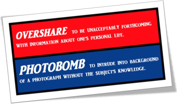 overshare e photobomb words of the year 2014 chambers collins dictionary