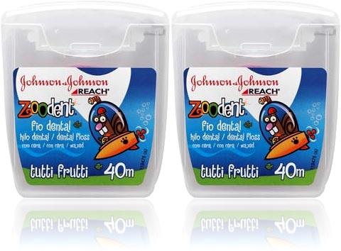 limpeza de dentes, reach fio dental infantil sabor tutti frutti johnson johnson