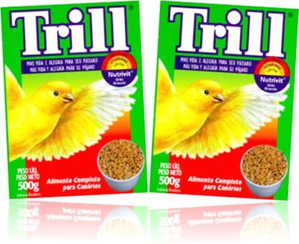 ração trill alimento completo grãos sementes comida para canários passarinhos