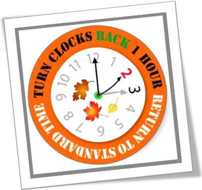 turn clocks back 1 hour standard time