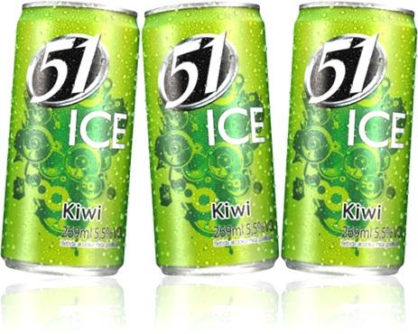 bebida 51 ice sabor kiwi cachaça e frutas, caipirinha, bebida alcoólica