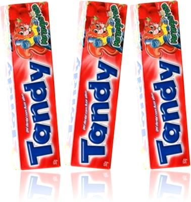 creme dental infantil gel dental tandy colgate sabor morango